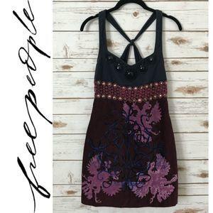 Free People Velour Sleeveless Empire Waist Dress